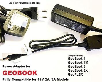 Adaptador de Fuente de alimentación/Cargador para GeoBook 3 ...