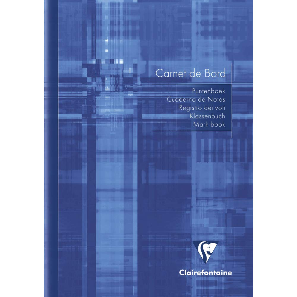 Clairefontaine 3689C Carnet de notes des professeurs reliure piqûre 14, 8x21cm 40 pages, Coloris aléatoire