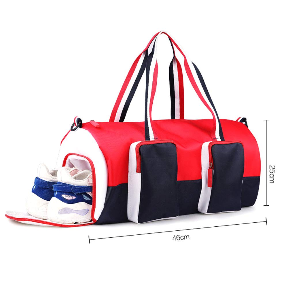 Sports Fitness Bag 46x25cm Womens Fashion Lightweight Training Bag Yoga Fitness Bag Short-Distance Travel Tote Bag