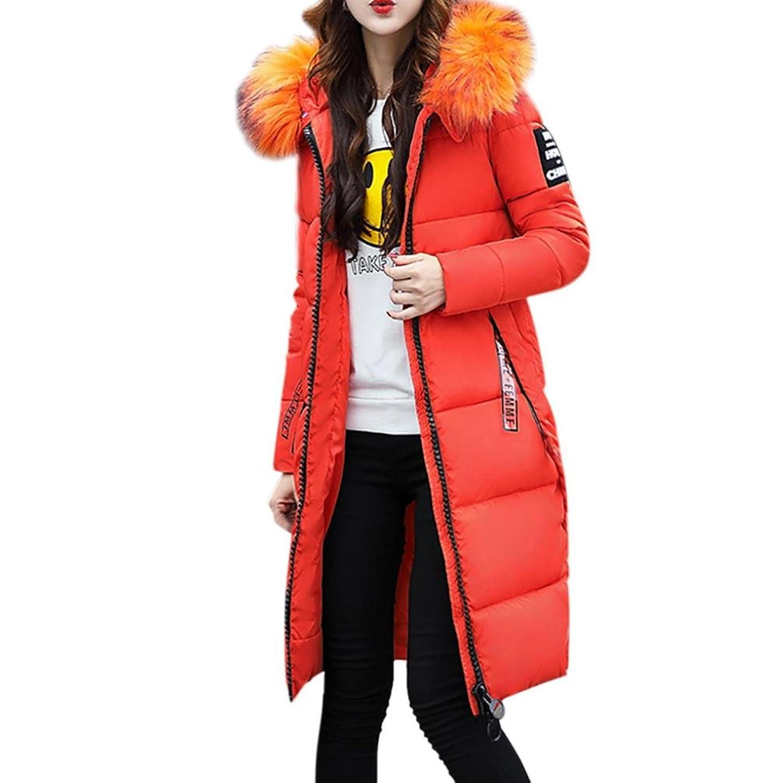 todaiesレディース無地カジュアルコート冬厚く暖かいジャケットフード付きオーバーコートM - 3 X Lサイズ7色 2XL オレンジ B076M62N5N  オレンジ 2XL