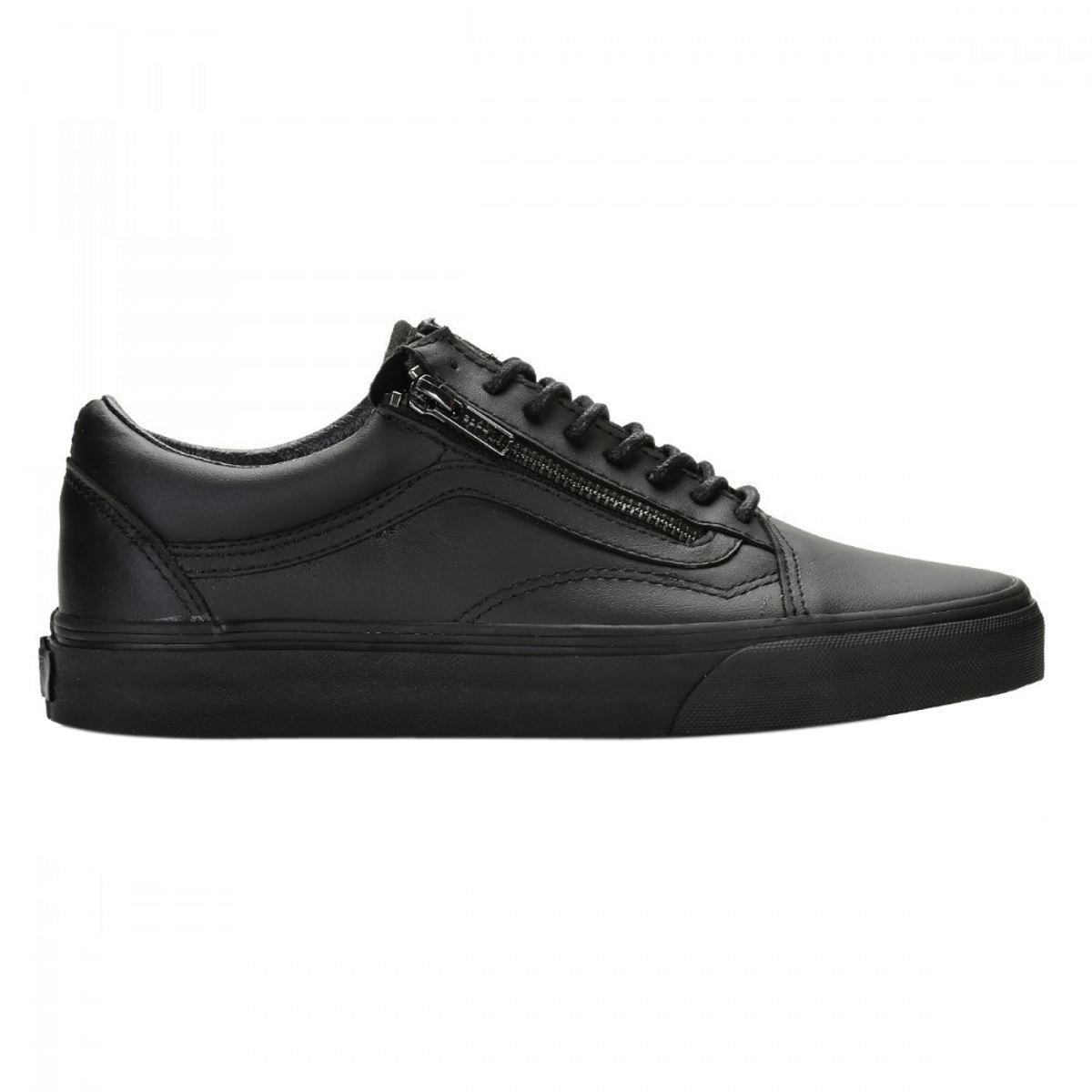Vans Old Skool Zip Womens skateboarding-shoes c_VN-018GJTL (6, Black)