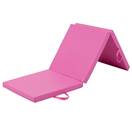 Amazon.com: AKAIRINGO Exercise Floor Mat Pink PU Leather ...
