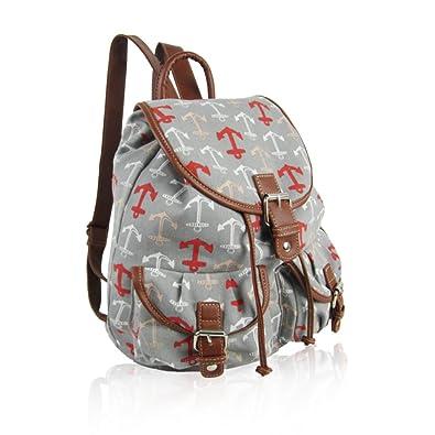 30381be53f SALE SALE- New Childrens Designer Style Canvas ANCHOR Print -Design Retro  Classic Backpack Rucksack School Bag College Shoulder Bag Casual Kids  Back  to ...