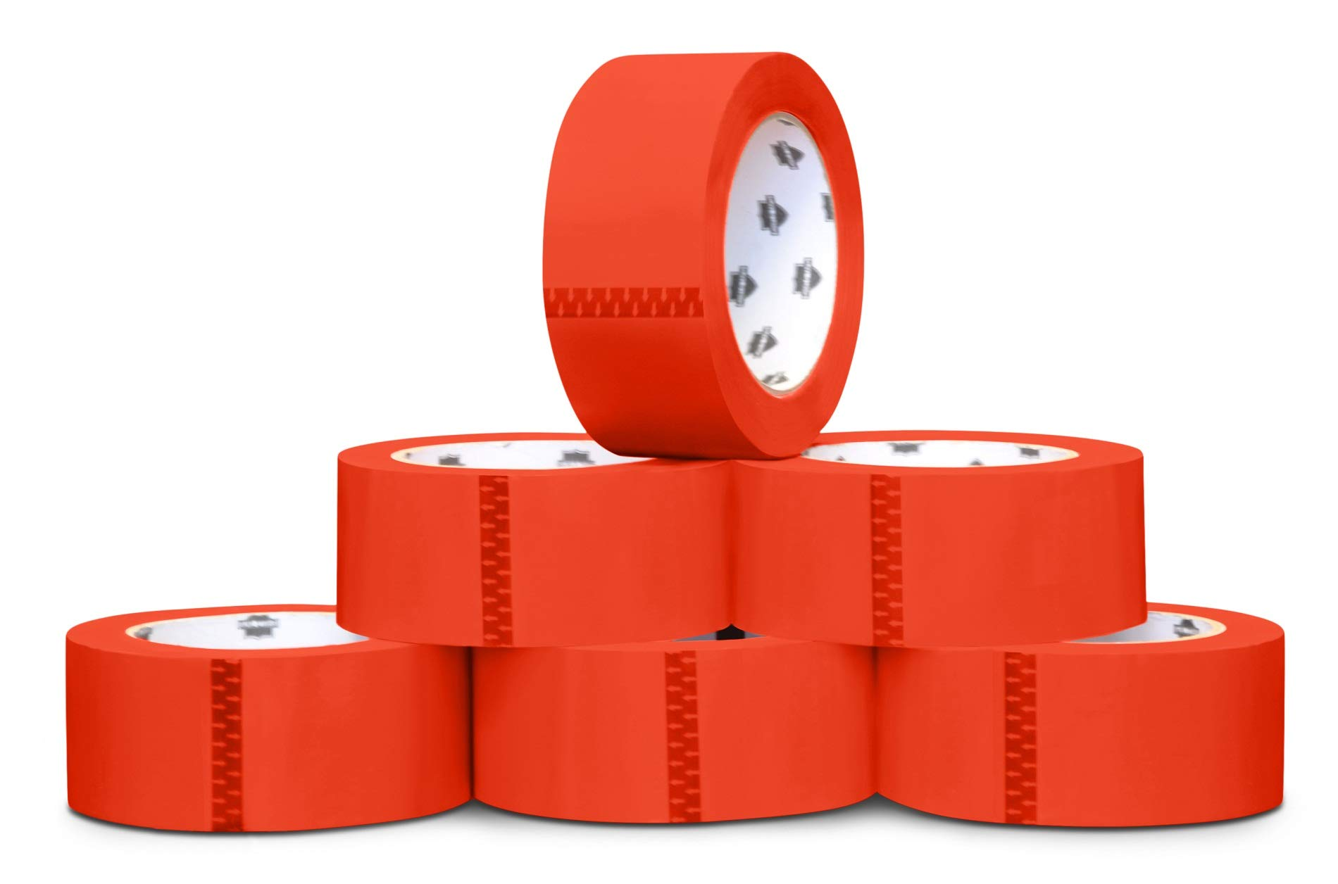 Red Packing Tape, Shipping Tape Rolls, 2 Inch x 110 Yards, 2.0 Mil Thick, 36 Pack