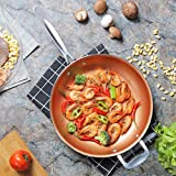 12-Inch Copper Pan, Non-Stick Frying Pan - Cooking