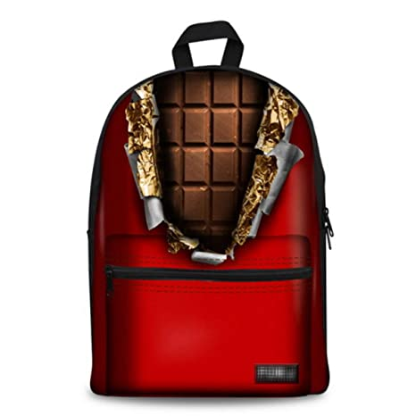 Backpack Lona Impresa Chocolate Mochilas Infantiles Mochila ...