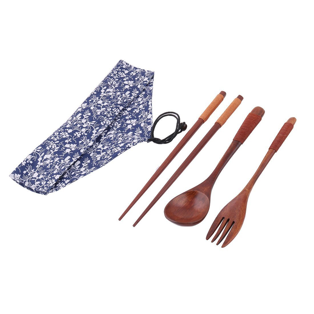 uxcell Outdoor Hiking Tableware Dinnerware Picnic Dinner Lunch Chopsticks Fork Spoon Set a17062300ux0222