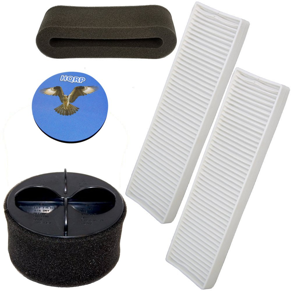 HQRP Filter Kit for Bissell CleanView II Plus Bagless Vacuum 3576-6, 3576M, 3574-1 Cleaner Coaster