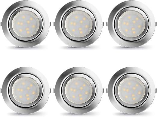 Lampaous Lot De 6 Spots Led Encastrables Pour Cuisine Blanc Neutre
