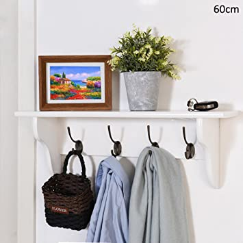 Amazon.com: CHAOYANG Coat rack Solid wood coat rack Wall ...