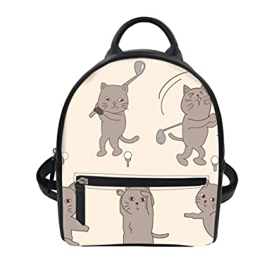 62e9a17b8c Advocator Small backpack for Teen Girls Kawaii Cartoon Cats Designer  Backpacks