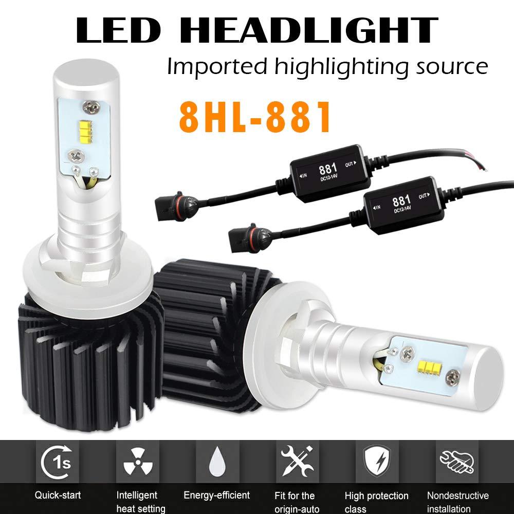 AUSI 8 G 881 LED Faro Bombilla 72W 12000LM 6500 K HB3 Faro kit de Conversión Plug n Juego con Ventilador Reemplazar HID & Xenon Faros