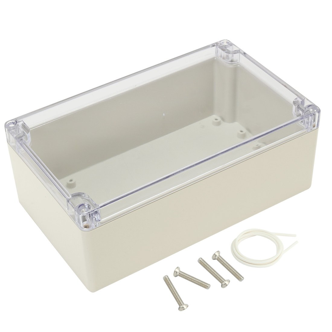 uxcell 7.9''x4.7''x2.9''(200mmx120mmx75mm) ABS Junction Box Universal Project Enclosure w PC Clear Transparent Cover