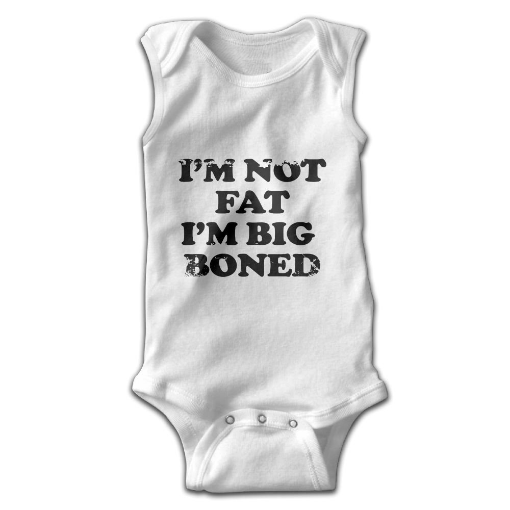 Toddler Baby Girls Rompers Sleeveless Cotton Onesie Im Not Fat Print Outfit Summer Pajamas Bodysuit