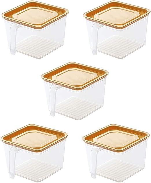 WHKP Paquete De 5 Caja De Almacenamiento De Refrigerador De Cocina ...