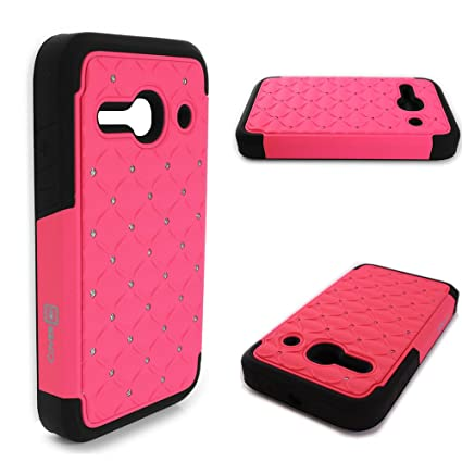 best service 79f60 af00d Alcatel One Touch Evolve 2 Case, CoverON Hybrid Bling Protective Slim Phone  Cover for Alcatel One Touch Evolve 2 - Hot Pink / Black