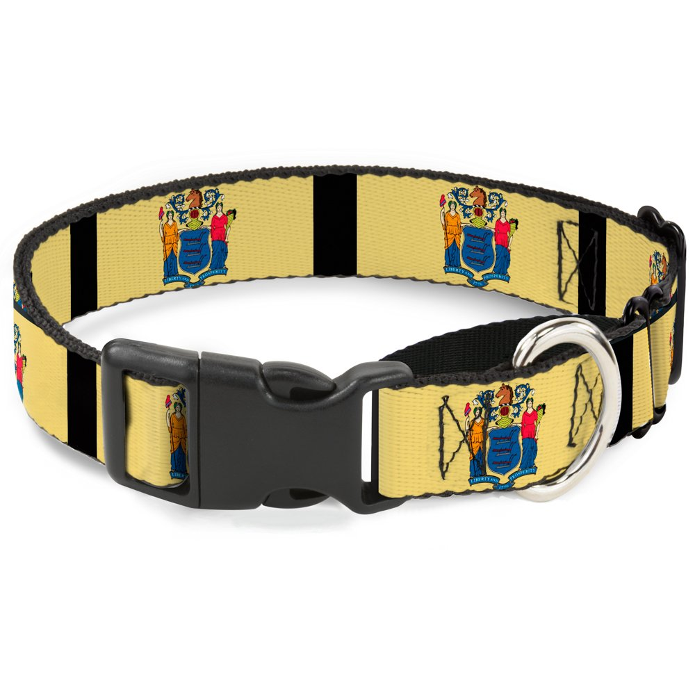 Buckle Down New Jersey Flags/Black Martingale Dog Collar