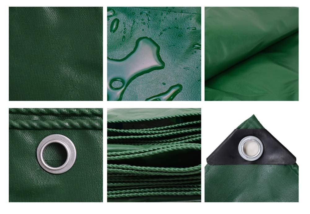 Tela cerata impermeabile impermeabile impermeabile prossoezione solare addensare panno antipioggia, ombra esterna Canopy tela linoleum panno 3  4m (Coloreeee   verde, dimensioni   2  2m) | Diversi stili e stili  | promozione  8f0b2a