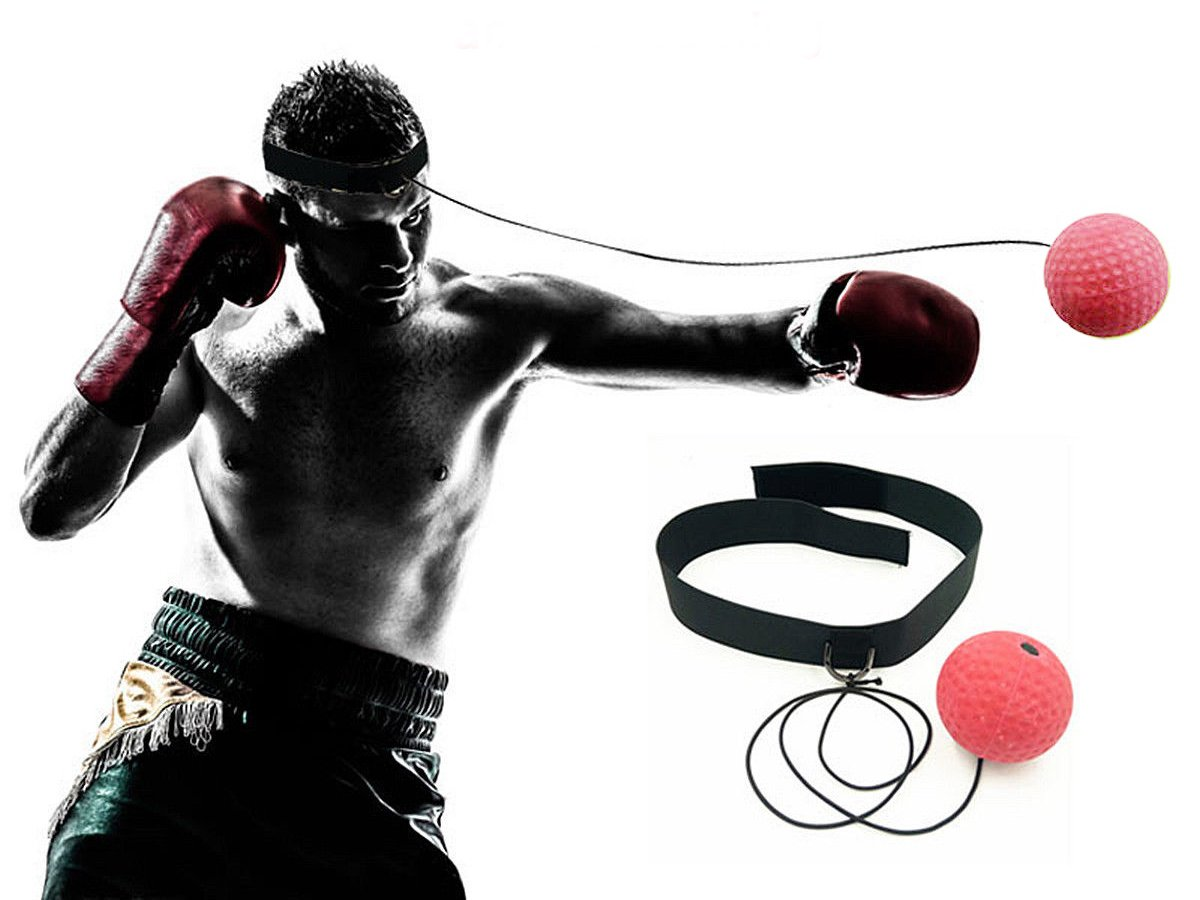 Ueasy Boxing Ball MMA Ball Fighting Ball with 2 Pieces of Elastic Rope to Improve Eye-Hand Coordination Speed and Accuracy Made by