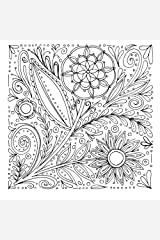 Floral Notebook No. 6: A notebook with coloring elements