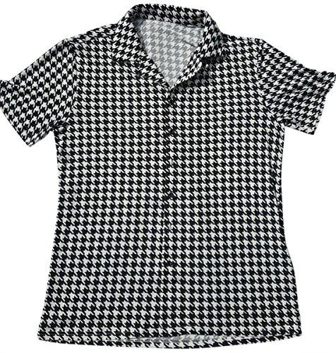 The Hank Shop Mens Houndstooth Shirt Bowling Shirt