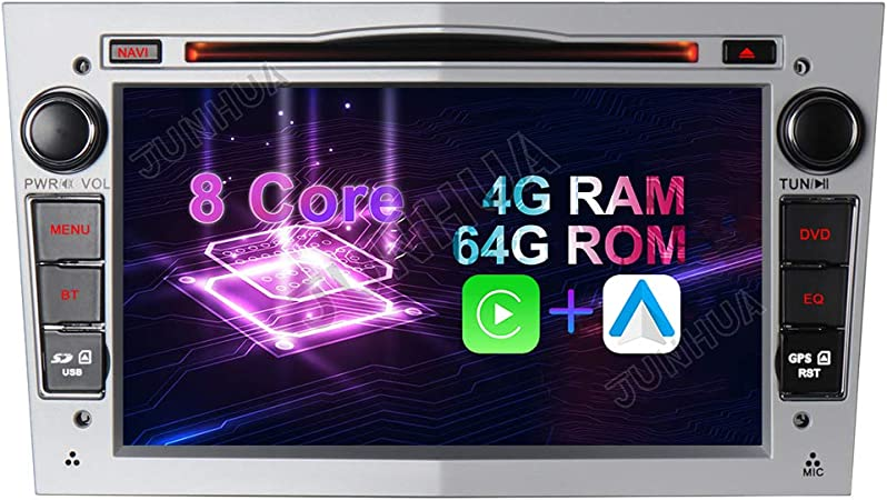 Android 10 Octa Core 4gb Ram 64gb Rom Carplay Android Auto Autoradio Dvd Gps Navigation 7 Radio Dab Wifi Bluetooth Für Opel Vauxhall Astra H G Antara Vectra Corsa C D Zafira Silber Navigation