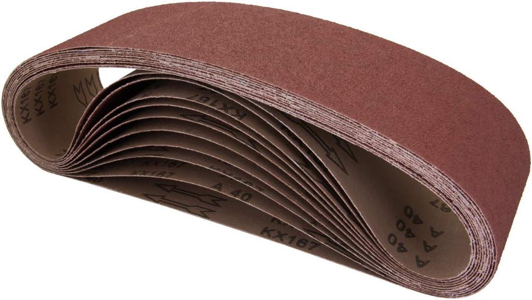 "Sanding Belts 2/""x48/"" 100-Medium 10-Pc Aluminum Oxide Cloth Wood Steel Sandpaper"