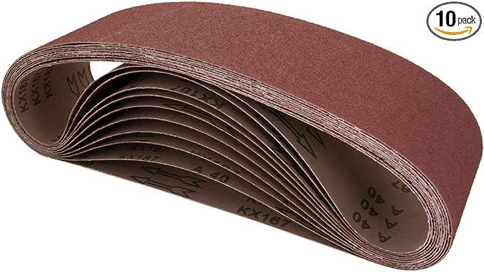 POWERTEC 110680 4 x 36 Inch Sanding Belts