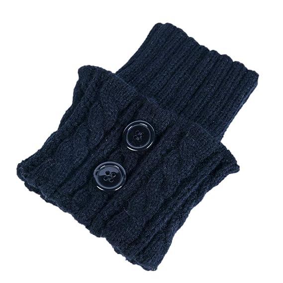 Deloito Damen Winter Warm Dick Häkeln Gestrickt Stiefel Socken