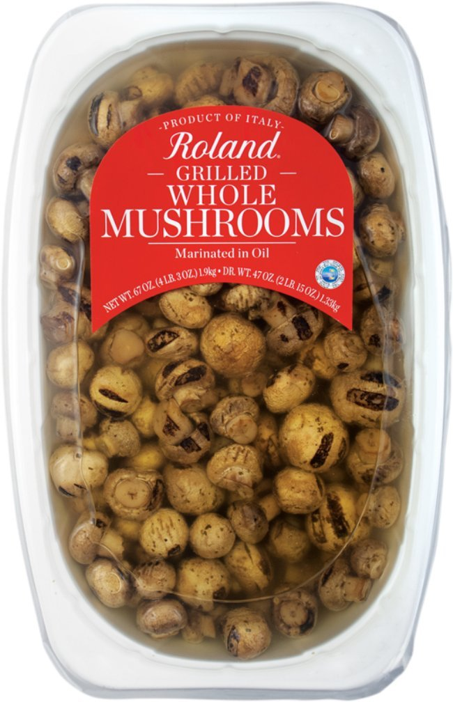 Roland Foods Whole Mushrooms, Grilled, 67 Ounce by Roland Foods