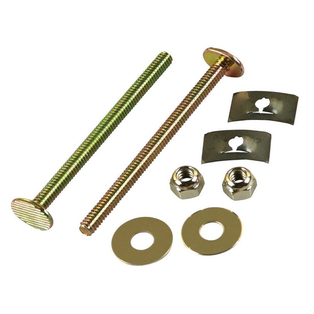 Danco, Inc. 88920A 1/4 In. x 3-1/2 In. Brass Closet Bolts with Nuts and Washers (2-Pack)