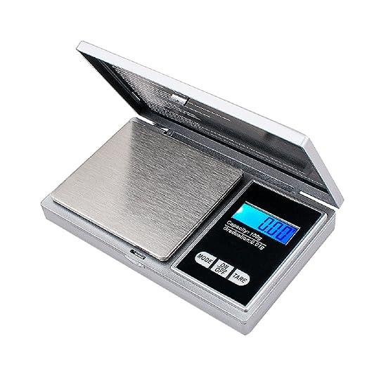 Pevor Balanza de bolsillo digital, 100g by 0,01 g, joyas, cocina ...