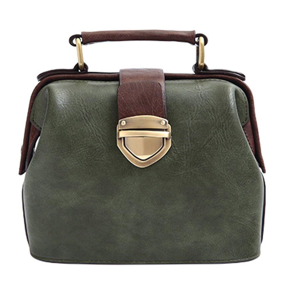 Donalworld Women Vintage Hobo Doctor Style Pu Leather Shoulder Bag Pt7