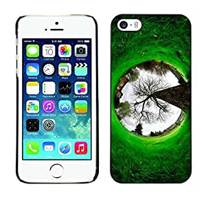 MOBMART Carcasa Funda Case Cover Armor Shell PARA Apple iPhone 5 / 5S - Root Of A Circle Tunnel