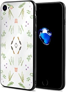 iPhone 8 Case iPhone 7 Case with Herb Garden Full Saturation Fabric Print,Black,OneSize