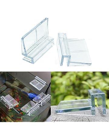Tookie Acuario acrílico Clips, 4ST Durable Transparente Clips Tapa Clamp glasabdeckung Soporte Soporte para Acuario