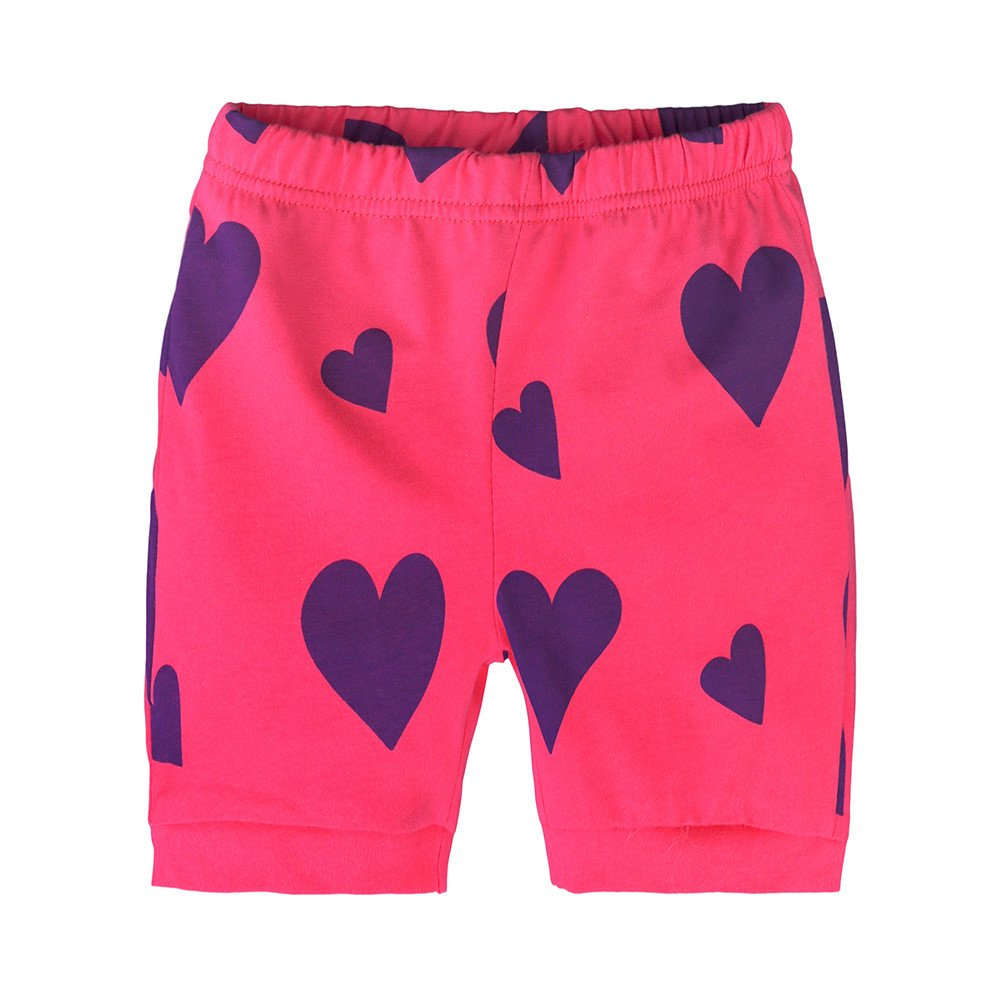 Summer Pajama Sets For Kids Girls,Baby Girls Cotton Tee Tops + Pajama Pants Girls Homewear Set(Purple,3 Years) by Wesracia (Image #4)