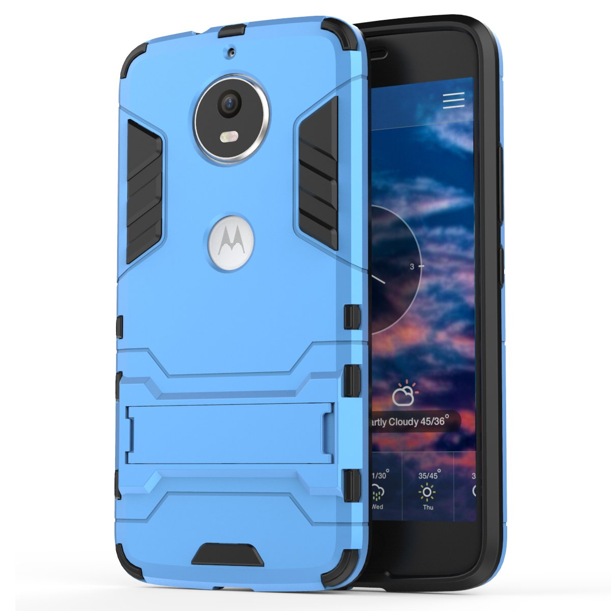 Moto G6 Case, Moto G6 Hybrid Case, Dual Layer Shockproof Hybrid Rugged Case Hard Shell Cover with Kickstand for Motorola Moto G6 [NOT fit Moto G6 ...