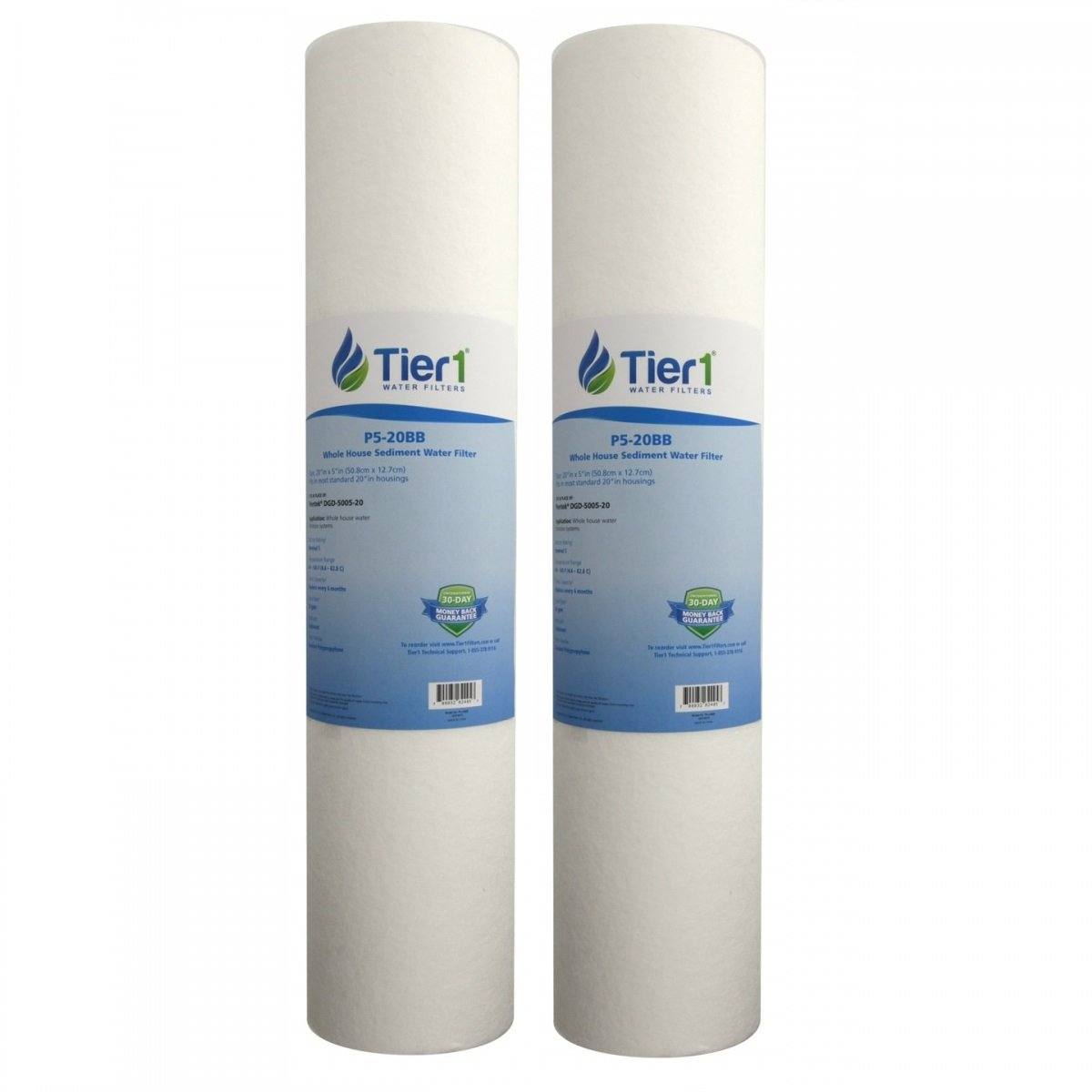 Whole House Sediment Water Filter Amazoncom Tier1 Dgd 5005 20 5 Micron 20 X 45 Spun Wound