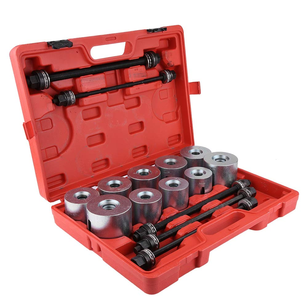 herramienta de inserci/ón universal para quitar cojinetes de cojinete de autom/óvil 27 unidades juego de herramientas de inserci/ón Press Pull Sleeve Kit Extractor de cojinetes de rueda