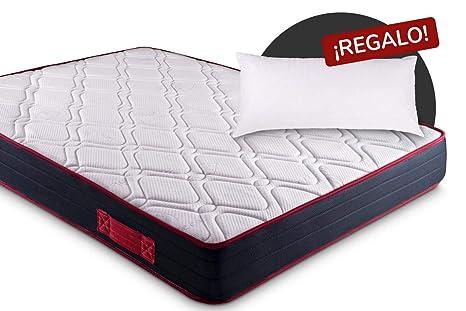 KAMA HAUS | Colchón Visco-Red Confort 90x190 | con Viscoelástica | 2 Caras:
