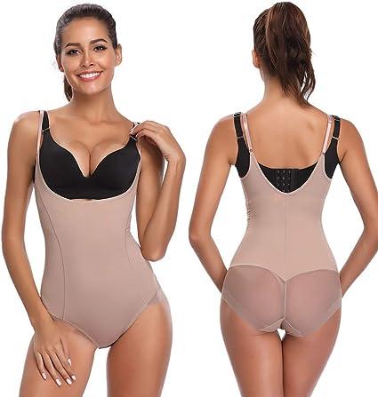 Amazon.com: Body sin costuras con control firme para mujer ...