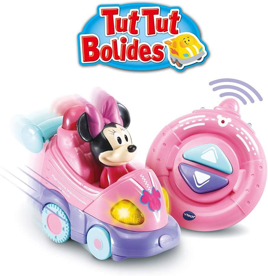 Voix et Effets Lumineux v/éhicule interactif avec Musique Camion de Minnie m/élodies et chansons VTech 80-512122 TutTutBolides Disney Ses Roues pivotantes avec capteur activent Phrases
