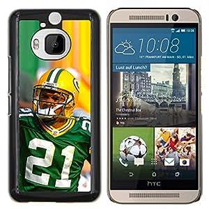 21 Jugador de la NFL- Metal de aluminio y de plástico duro Caja del teléfono - Negro - HTC One M9+ / M9 Plus (Not M9)