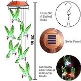 Topspeeder Color-Changing LED Solar Mobile Wind