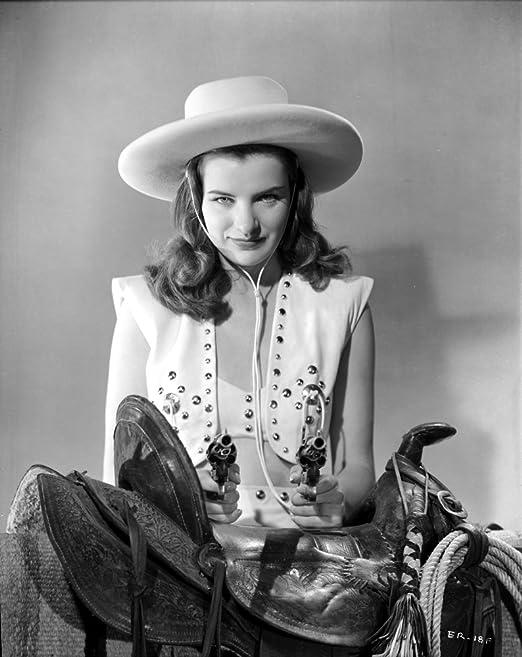 Amazon.com: Posterazzi Ella Raines Seated in Cowgirl Attire Photo ...