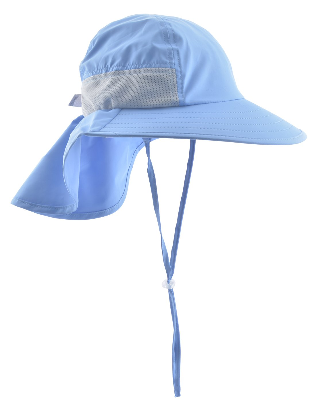 Lenikis Kids Outdoor Activities UV Protecting Sun Hats with Neck Flap Blue
