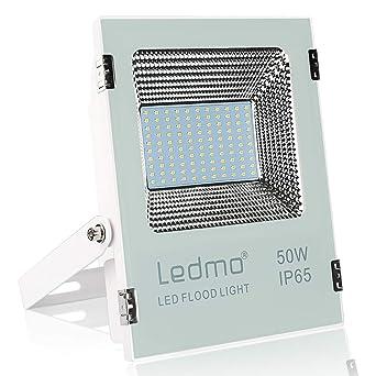 LEDMO Foco LED exterior 50W,SMD2835 focos led 2700K ultra alto ...