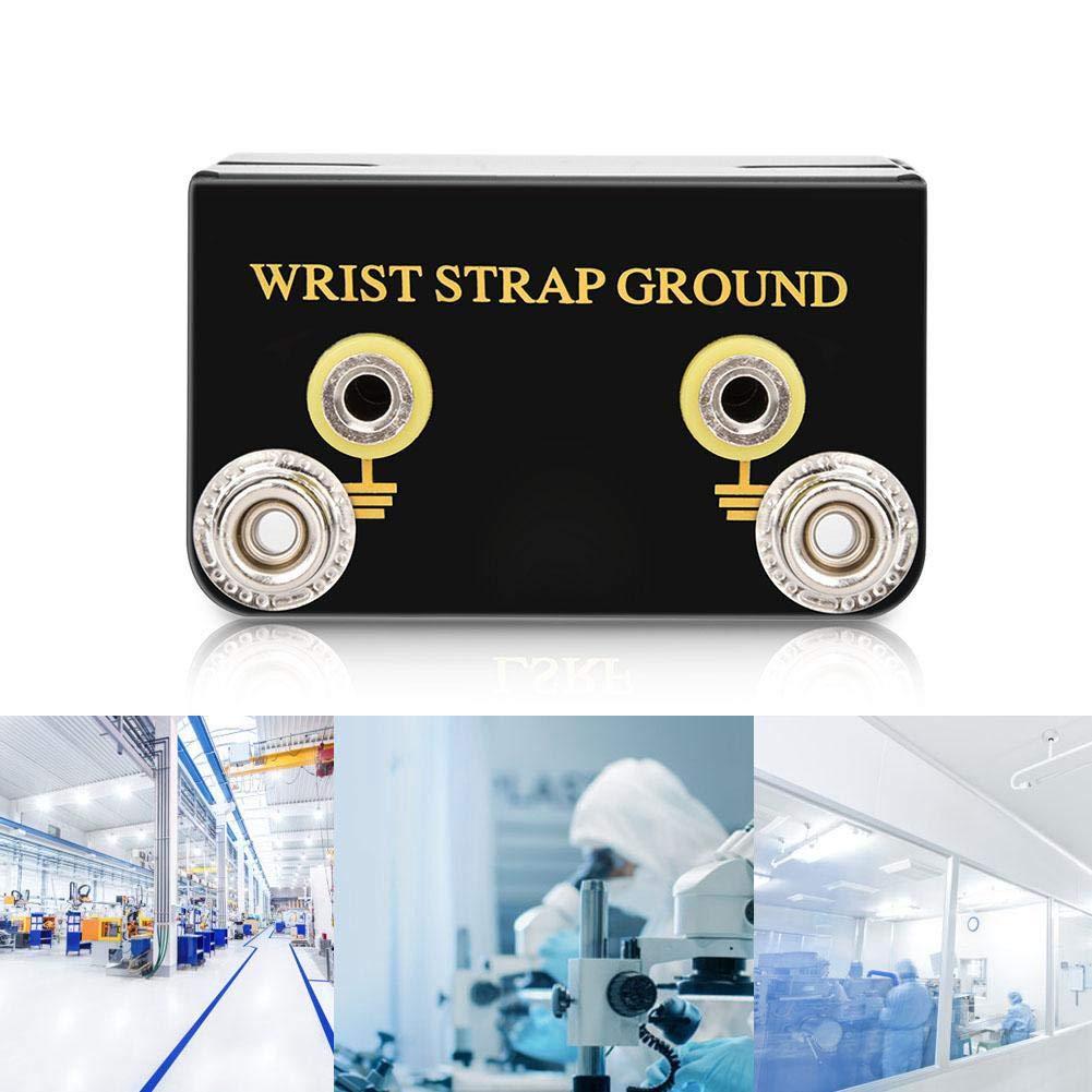 L Shaped Anti-Static ESD Grounding Receptacle Workbench Metal Wrist Strap Ground Socket Anti-Static Earth Bonding Plug