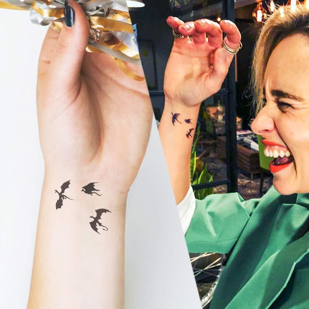 Little Dragon - Tatuaje temporal (conjunto de 2): Amazon.es: Handmade